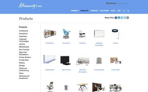 Screenshot of Products Page pomerantz.com - Products | A. Pomerantz & Co. a Garry Maddox Company | Philadelphia PA, Chicago IL - captured Oct. 3, 2014