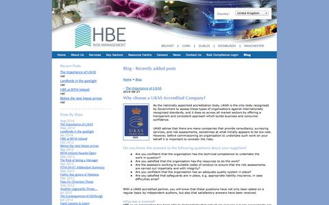 Screenshot of Blog hberm.com - Blog on Legionella, Asbestos, Health & Safety, Pseudomonas - captured Oct. 1, 2014