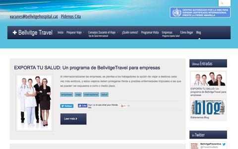 Screenshot of Blog bellvitgetravel.com - Blog Bellvitge Travel - captured Jan. 12, 2017