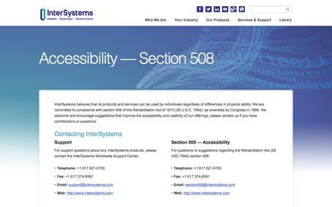 Section 508 | InterSystems