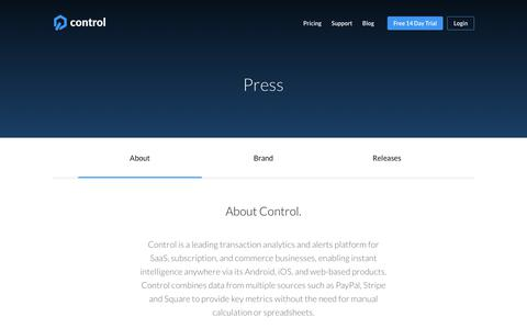 Control in the Press | Instant Transaction Insights Anywhere