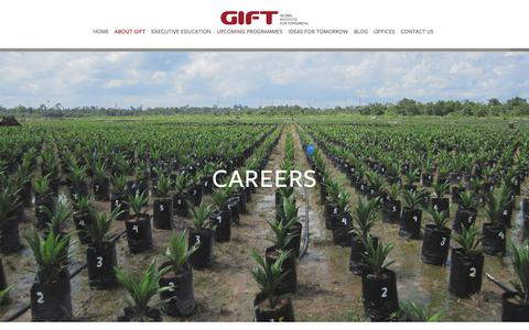 Screenshot of Jobs Page global-inst.com - Careers — Global Institute For Tomorrow - captured Sept. 28, 2018