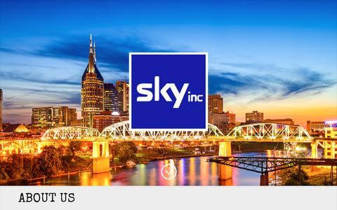 Screenshot of Home Page theskyinc.com - Welcome to Sky Inc | Nashville, TN - captured Oct. 18, 2018