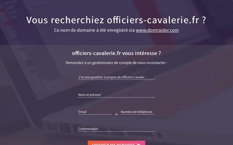 Screenshot of Home Page officiers-cavalerie.fr - officiers-cavalerie.fr has been registered with DomRaider.com - captured March 24, 2017