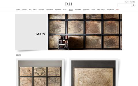 Screenshot of Maps & Directions Page restorationhardware.com - Maps | Restoration Hardware - captured Sept. 18, 2014