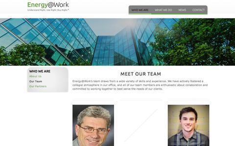 Screenshot of Team Page energy-efficiency.com - Our Team — Energy@Work - captured Jan. 29, 2016