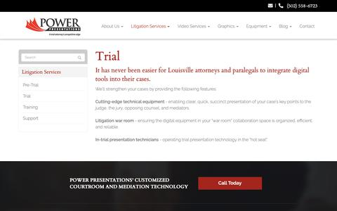 Screenshot of Trial Page powerpresentations.org - Trial - Louisville, Jeffersonville, Clarksville   Power Presentations, LLC - captured Sept. 29, 2018