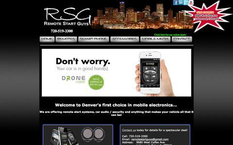 Screenshot of Home Page remotestartguys.com - The Remote Start Guys - captured Oct. 7, 2014