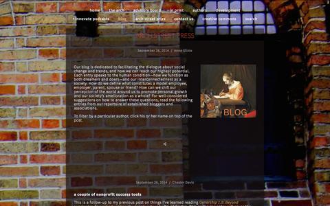 Screenshot of Blog archstreetpress.org - BLOG — Arch Street Press - captured Sept. 30, 2014