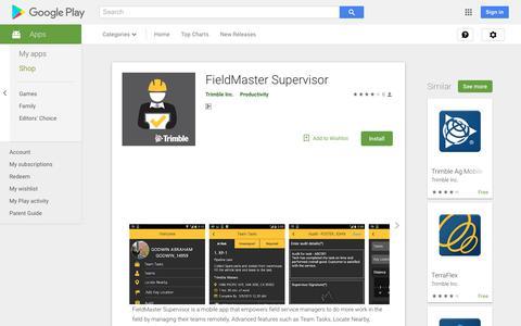 FieldMaster Supervisor - Apps on Google Play