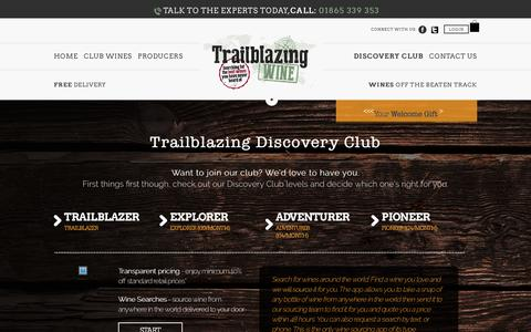 Screenshot of Trial Page trailblazingwine.com - Trailblazingwine - captured Aug. 17, 2016