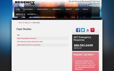 Screenshot of Case Studies Page regencydki.com - Case Studies - Regency DKI - captured Sept. 30, 2014