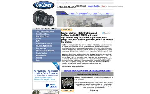 Screenshot of Pricing Page snow-tire-chains.com - Product Listings | Snow Tire Chains - captured Oct. 7, 2014
