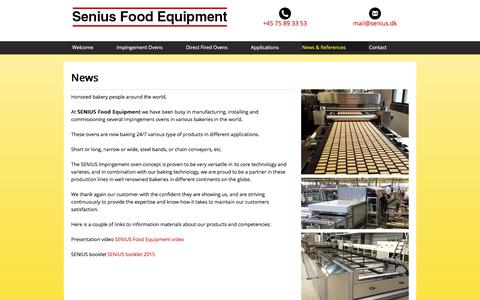 Screenshot of Press Page senius.dk - Proud partners of renowned bakeries worldwide - Senius & Lund A/S - captured Dec. 2, 2016