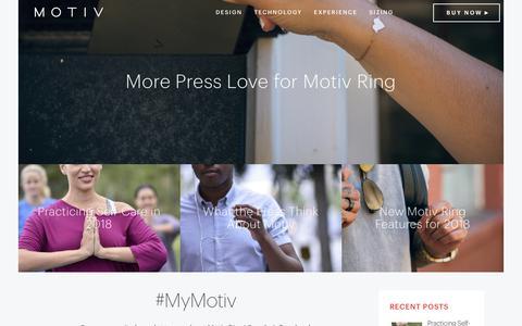 Screenshot of Blog mymotiv.com - Motiv - Fitness, Heart Rate + Sleep Tracker - captured Feb. 18, 2018