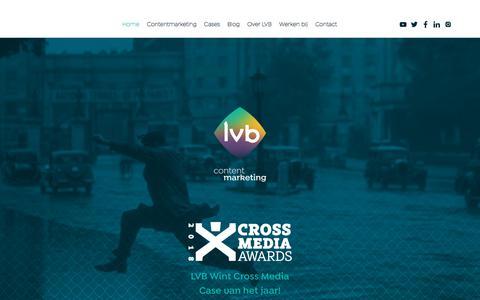 Screenshot of Home Page lvb.nl - LVB - hét nummer 1 content marketing bureau in Nederland - captured July 7, 2018