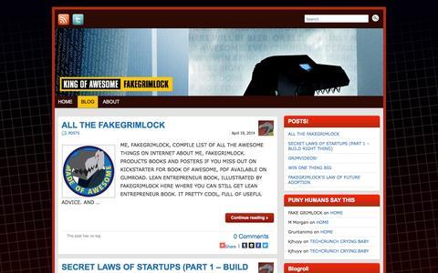 Screenshot of Blog fakegrimlock.com - BLOG » FAKEGRIMLOCK BLOG | FAKEGRIMLOCK BLOG - captured March 17, 2016