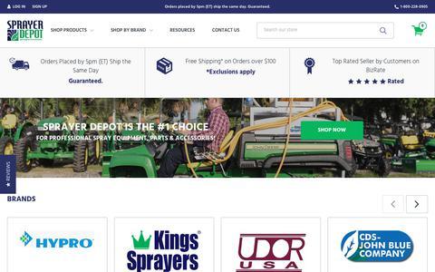 Screenshot of Home Page sprayerdepot.com - Spray Equipment, Sprayer Parts & Accessories   Sprayer Depot - captured Oct. 20, 2018