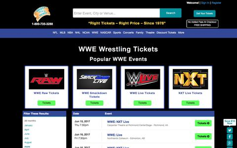 Buy WWE Wrestling tickets at SelectATicket.com