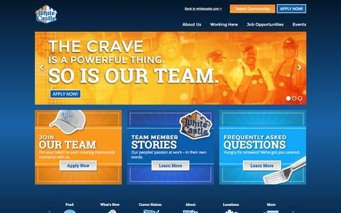 Screenshot of Jobs Page whitecastle.com - White Castle Jobs | Career Opportunities - captured Dec. 3, 2016