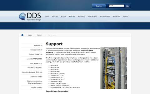 Screenshot of Support Page tape-replacement.com - Support - captured Oct. 27, 2014