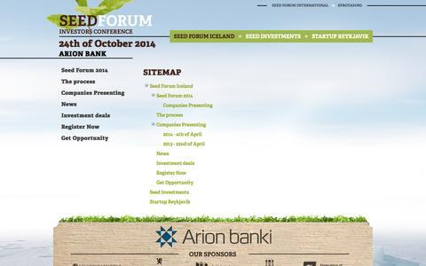 Screenshot of Site Map Page seedforum.is - Seed Forum - Sitemap - captured Oct. 27, 2014