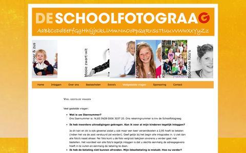 Screenshot of FAQ Page deschoolfotograag.nl - Veel gestelde vragen - De Schoolfotograag - captured Jan. 8, 2016