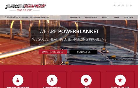 Screenshot of Home Page powerblanket.com - HOME   Powerblanket 2014 - captured Sept. 30, 2014