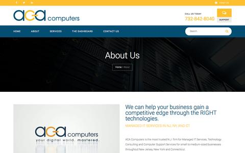 Screenshot of About Page acacomputers.com - Managed IT Services - ACA Computers - captured Nov. 19, 2016