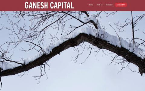 Screenshot of Contact Page ganeshcapital.com - Contact Us | Ganesh Capital - captured Oct. 27, 2014