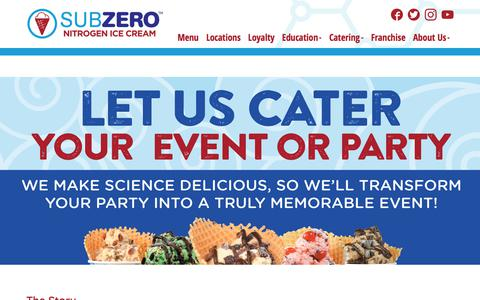 Screenshot of About Page subzeroicecream.com - About Us - Find Out How We Got Started In The Liquid Nitrogen Ice Cream Business!   Sub Zero Ice Cream - captured Nov. 10, 2017