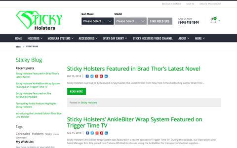 Screenshot of Blog stickyholsters.com - Sticky Blog - captured Nov. 18, 2018