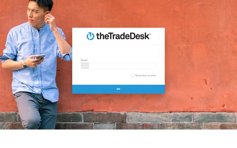 Screenshot of Login Page thetradedesk.com - Log In - captured Aug. 28, 2019