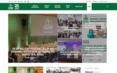 Screenshot of Blog cesif.es - Blog de CESIF - CESIF - captured July 14, 2018