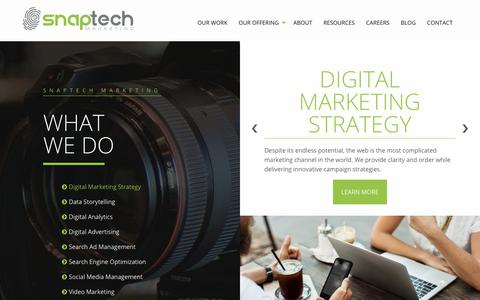 Screenshot of Services Page snaptech.com - Digital Marketing Services | Snaptech Marketing - captured Oct. 18, 2018