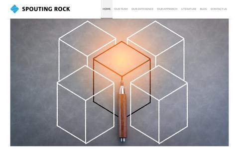 Screenshot of Home Page spoutingrockfunds.com - SpoutingRock - captured Jan. 23, 2017