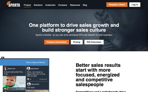 Product |      Sparta - Take your sales results to the next level