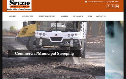 Screenshot of Home Page spezio.net - Spezio, Spezio Property Services, SPS, Inc., SPS - captured Nov. 1, 2018