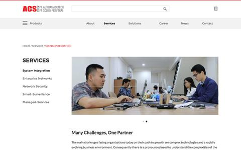 Screenshot of Services Page acsgroup.co.id - System Integration - Services : ACS Group - captured July 4, 2018