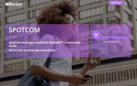 Screenshot of Case Studies Page adswizz.com - SpotCom Case Study - Adswizz - captured Aug. 7, 2019