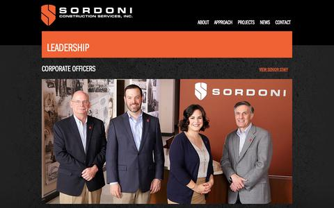 Screenshot of Team Page sordoni.com - Corporate Officers | Sordoni Construction - captured Oct. 6, 2014