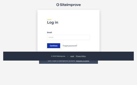 Screenshot of Login Page siteimprove.com - Siteimprove ID - captured Oct. 13, 2019
