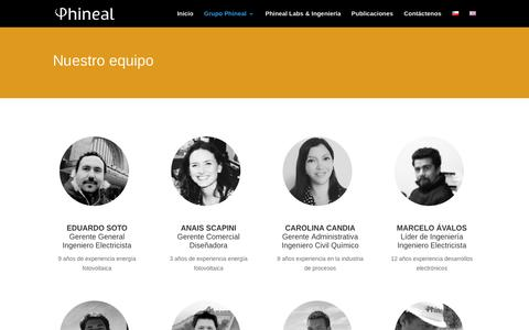 Screenshot of Team Page phineal.com - Nuestro equipo   Phineal - captured May 17, 2017