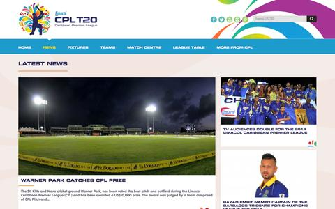 Screenshot of Press Page cplt20.com - Latest News | cplt20 - captured Nov. 2, 2014