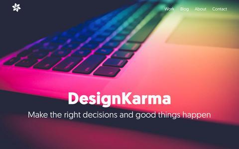 Screenshot of Home Page designkarma.co.uk - Web Design, Craft CMS Developer, Manchester   DesignKarma - captured Aug. 6, 2018