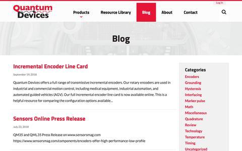 Screenshot of Blog quantumdev.com - Blog - Quantum Devices, Inc. - captured Sept. 29, 2018