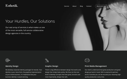 Screenshot of Services Page esthetik.com.au - Our Services - Esthetik - captured Dec. 10, 2015