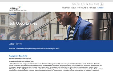 Screenshot of Jobs Page ranzal.com - Job Opportunities Ranzal - captured July 13, 2019