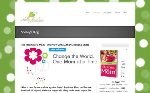 Screenshot of Blog shelleyhendrix.com - Shelley's Blog | Shelley Hendrix (Author, Speaker, Television Host) - captured Oct. 9, 2014
