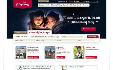 Screenshot of Home Page efteling.co.uk - Efteling - Theme Park, Hotel, Village  - Efteling - captured Jan. 20, 2016